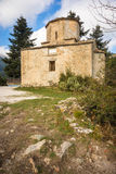 Tiny church on an island at Lake Doxa on Peloponnese Royalty Free Stock Image