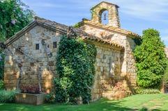 Tiny church in Pals, Spain Royalty Free Stock Photos