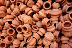 Tiny Clay Pots Royalty Free Stock Photos
