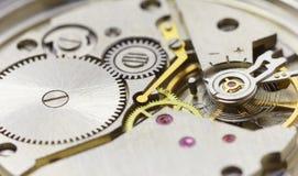 Tiny clockwork photographed close up Royalty Free Stock Photos