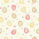 Tiny colorful Easter eggs and specks seamless pattern Stock Images
