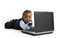 Tiny Computer Guru Stock Images