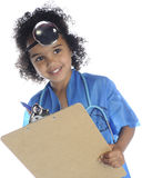 Tiny Doc with Clipboard Stock Photography