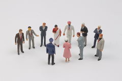 The tiny figure of business people Royalty Free Stock Photo
