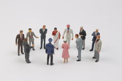 The tiny figure of business people Stock Photo