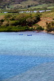 Tiny fishing village with azure waters and fertile land,Nadi,Fiji,2015 Royalty Free Stock Photography