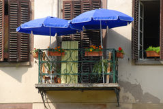 Tiny French balcony Stock Photography