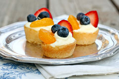 Tiny Fruit Tarts Royalty Free Stock Photography
