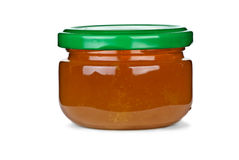 Tiny glass jar with honey Stock Images