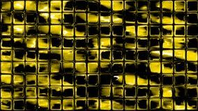Glass mosaic squares yellow background. Tiny glass mosaic squares geometric wall divider yellow background Royalty Free Stock Image