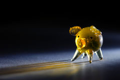 Tiny glass pig Royalty Free Stock Photos