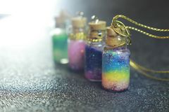 Tiny Glass Rainbows stock images