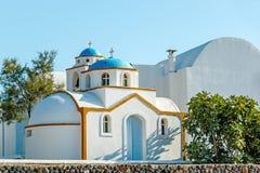 Tiny Greek church on Santorini Stock Photography