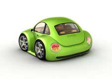 Tiny green car Royalty Free Stock Photo