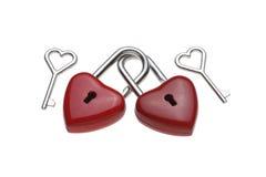 Tiny heart-shaped lock, padlock Royalty Free Stock Photo