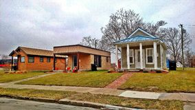 Tiny Homes in Detroit. These Tiny Homes are being built in Detroit Michigan, in the Cass Corridor Community. Captured in December 2017 Stock Photos