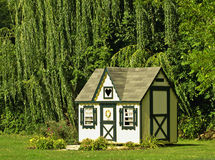 Tiny house. Shed designed like a tiny house or cottage Royalty Free Stock Photo
