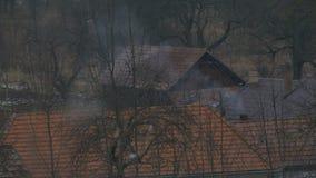 Tiny House Chimney Smoke stock video