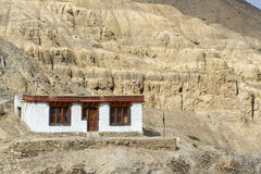 Tiny house in the mountains of Ladakh, India Royalty Free Stock Images
