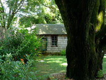 Tiny House in the Woods. In Seekonk, Massachusetts Royalty Free Stock Photo