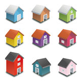 Tiny houses vector icon collection Stock Photo
