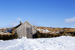 Tiny hut in Iceland Stock Images