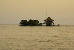 A tiny island in the caribbean Islas de Rosario near Cartagena de Indias, Colombia Stock Photography