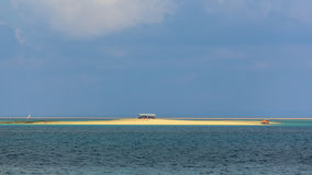 Tiny Island in the middle of the ocean Stock Photography