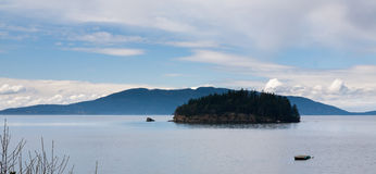 Tiny Island in Puget Sound Royalty Free Stock Image