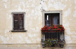 Tiny Italian balcony Stock Photo