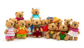 Tiny knitted bears Royalty Free Stock Photos