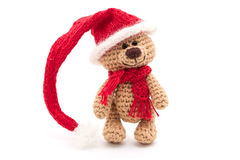 Tiny knitted teddy bear Royalty Free Stock Photography
