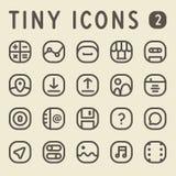 Tiny Line IconsSet 2 Stock Photography