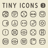Tiny Line IconsSet 3 Royalty Free Stock Photos