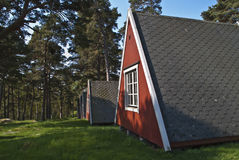 Tiny little cabins for rent Stock Images