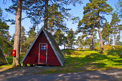 Tiny little cabins for rent Royalty Free Stock Photo