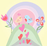 Tiny love bird Royalty Free Stock Image
