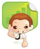 Tiny man (idea) Stock Images