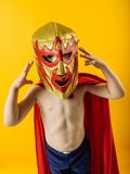 Tiny mexican wrestler Royalty Free Stock Photography