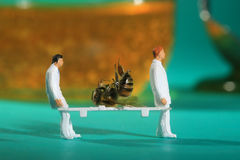 Tiny Miniature Scaled People in Curious Concepts Royalty Free Stock Images