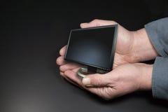 Tiny monitor stock photo