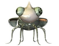Tiny nanobot front view Stock Images
