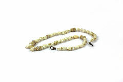 Tiny Natural Shell Necklace Overhead View Stock Photography