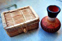 Tiny Navajo Vase and Box Royalty Free Stock Photo