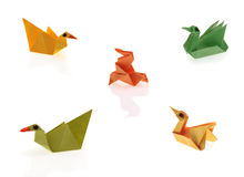 Tiny origami Stock Images