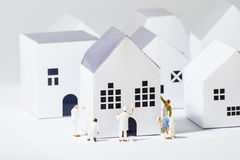 Tiny Painters Paper City. Tiny toys Painters Paper City Royalty Free Stock Image