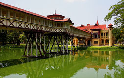 Tiny palace, Sanamchandra, located on a site Nakhon Pathom, Thai Stock Images