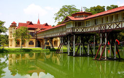 Tiny palace, Sanamchandra, located on a site Nakhon Pathom, Thai Royalty Free Stock Photo