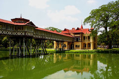 Tiny palace, Sanamchandra, located on a site Nakhon Pathom, Thai Royalty Free Stock Image
