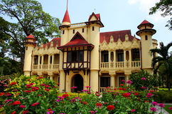 Tiny palace, Sanamchandra, located on a site Nakhon Pathom, Thai Royalty Free Stock Photography